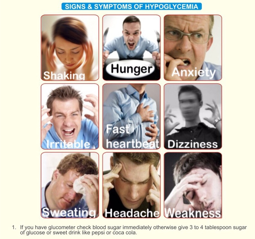 Signs Symptoms Of Hypoglycemia